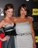 Molly Burnett, Chappell cristalino llega los 2012 Premios Emmy diurnos fotografía de archivo