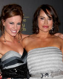 Molly Burnett, Crystal Chappell arrives at the 2012 Daytime Emmy Awards Stock Photo