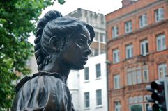 Molly Malone Statue. The statue of Molly Maloone in the city center of Dublin Stock Photo