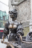 Molly Malone statue in the center of Dublin Stock Photos