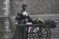 Molly Malone staty, Grafton Street, Dublin stad Arkivbilder