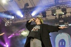 Molly ordinário executa vivo no festival do fim de semana do atlas Kiev, Ucrânia Imagens de Stock