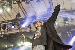 Molly ordinário executa vivo no festival do fim de semana do atlas Kiev, Ucrânia Fotos de Stock
