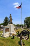 Molly Pitcher Standing in Old Graveyard in Carlisle. Carlisle, PA, USA – June 26, 2016: The Mary Ludwig Hays - better known as Molly Pitcher - gravesite Royalty Free Stock Image