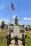 Molly Pitcher Statue at Her Grave. Carlisle, PA, USA – June 26, 2016: The Mary Ludwig Hays - better known as Molly Pitcher - gravesite, located in the Old Stock Image
