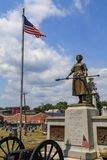 Molly Pitcher Statue at Her Gravesite. Carlisle, PA, USA – June 26, 2016: The Mary Ludwig Hays - better known as Molly Pitcher - gravesite, located in the Old Stock Image