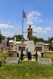 Molly Pitcher Statue in Old Graveyard in Carlisle PA. Carlisle, PA, USA – June 26, 2016: The Mary Ludwig Hays - better known as Molly Pitcher - gravesite Royalty Free Stock Photography