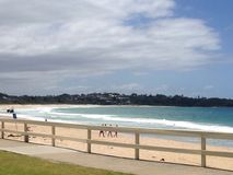 Mollymook plaży scena Obraz Royalty Free