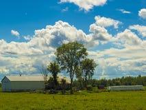 Moln är närvarande i himlen Fotografering för Bildbyråer