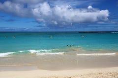 Moln över den Kailua stranden Royaltyfria Bilder