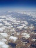 Moln över ett land Arkivfoton