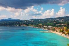 Moln över Ipsos, Korfu Arkivfoton