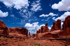 Moln över Moab Arkivfoto