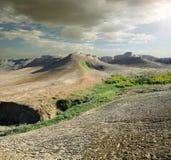 Moln över platå Arkivbild