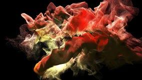 Moln av färgrik rök i mörkret, illustration 3d Arkivbild