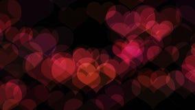 Moln av hjärtor för flyga färg royaltyfri illustrationer