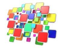 Moln av tomma programsymboler. Programvarubegrepp. Arkivbilder