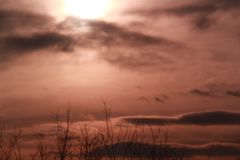 Moln dold sol Royaltyfri Fotografi