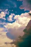 Moln efter en storm Arkivfoton
