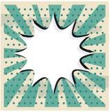 Moln för bangpopkonst på en klistermärke för tappninggrungebakgrund Royaltyfri Bild