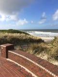 Moln för hav för Wangerooge strandsol Fotografering för Bildbyråer