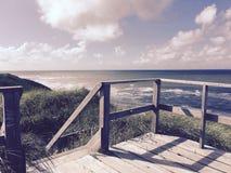 Moln för hav för Wangerooge strandsol Arkivbilder