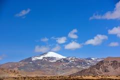 Moln för Kina Tibet snöstorm Arkivbild
