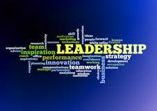 Moln för ledarskapbegreppsord Arkivbilder