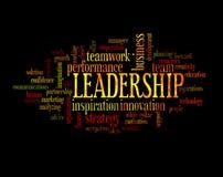 Moln för ledarskapbegreppsord Arkivfoto