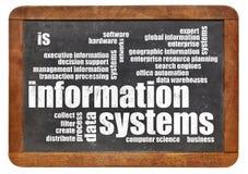 Moln för ord för informationssystem Arkivbilder