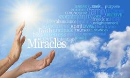 Moln för ord för mirakelarbetare arkivfoton