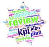 Moln för ord för Kpi plangranskning Arkivbild