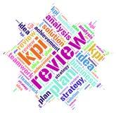 Moln för ord för Kpi plangranskning Arkivbilder