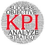 Moln för ord för Kpi plangranskning Arkivfoton
