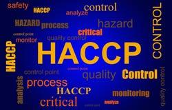 Moln för ord för process för HACCP-matsäkerhet royaltyfri fotografi