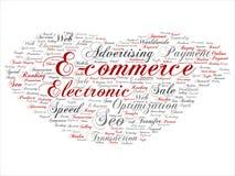 Moln för ord vektorE-kommers för elektronisk försäljning abstrakt royaltyfri illustrationer