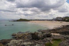 Moln för St Ives Porthmeor Beach Royaltyfria Bilder