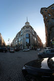 Moln för St Petersburg Nevsky utsiktsol Royaltyfri Foto