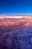 Moln från ett flygplan Royaltyfri Foto