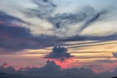 Moln himmel, bakgrund Arkivbild