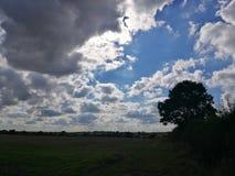 Moln, himmel och landskap Fotografering för Bildbyråer