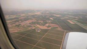 Moln himmel, sikter från ett flygplan, tur till Marocko, antennskott stock video