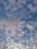 Moln i en aftonhimmel Arkivfoton