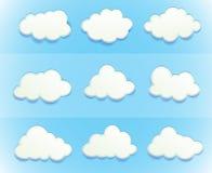Moln i himlen vektor illustrationer