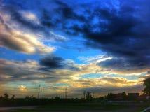 Moln i himmel Royaltyfri Fotografi