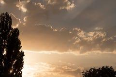 Moln i Sky Arkivfoton