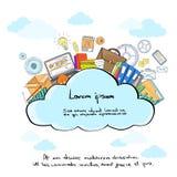 Moln Logo Storage Internet Aplication Hosting stock illustrationer