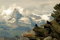Moln Matterhorn Arkivbild