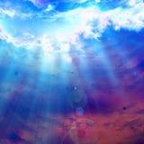 Moln med intensivt solljus vektor illustrationer