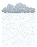 Moln med regn vektor illustrationer